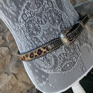 Tony Lama Leopard Belt